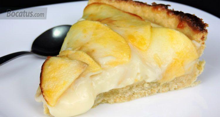 Receta De Tarta De Manzana Con Crema Pastelera Tarta De Manzana Crema Pastelera Crema De Manzana