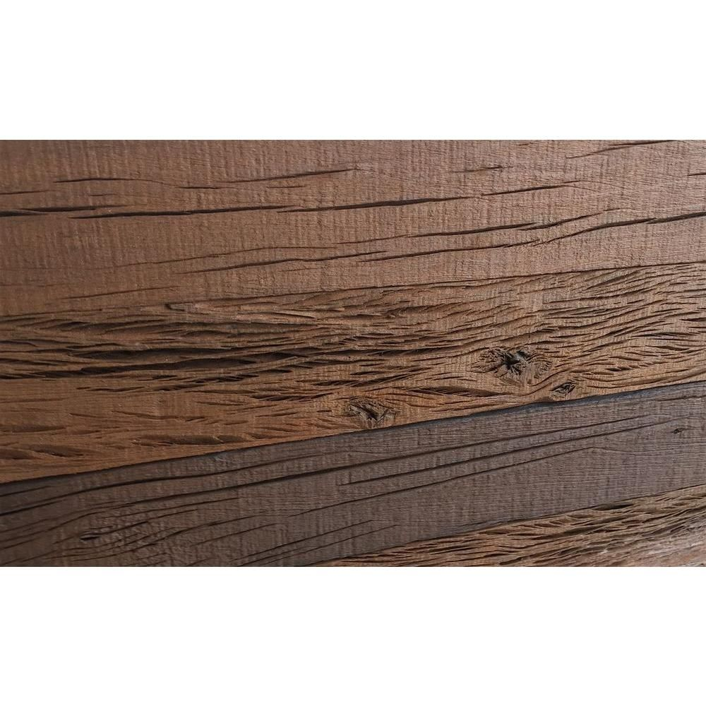 Holey Wood 3 8 In X 5 24 Reclaimed Decorative Wall Planks Brown Color 10 Sq Ft Case 11132 The Home Depot
