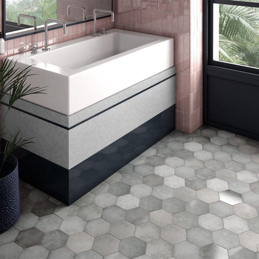 Tile floor, Tiles direct, Hexagon tiles