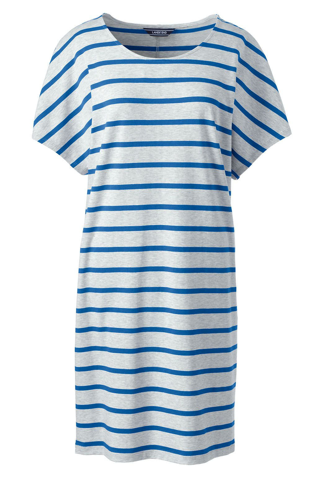 Womenus short sleeve knit tee shirt dress from landsu end plus