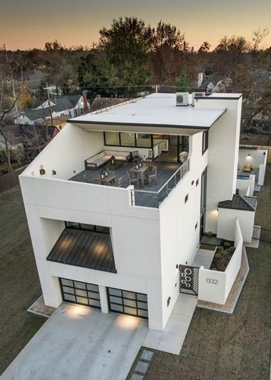 25 Modern Exterior Inspirations For Dream House Living Room Cozy Modern House Design Modern House Plans House Plans
