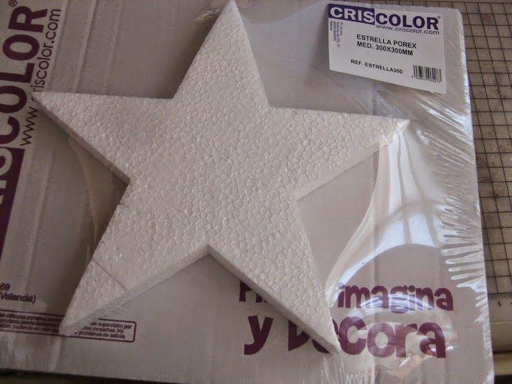 45695d468e9 Decorando estrellas de porexpan  ¡Con decoupage!