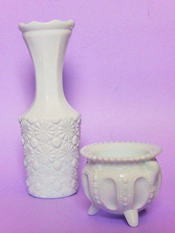 Vintage White Milk Gl Bud Vase & Footed Salt Bowl / Ring Dish ... on purple cd, purple tm, purple tg, purple ca, purple sg, purple co, purple ma,