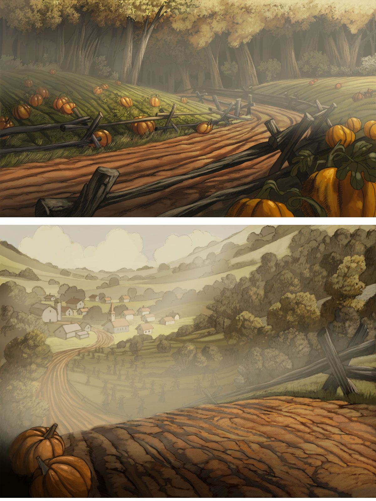 over the garden wall ch 7 backgrounds over the garden wall