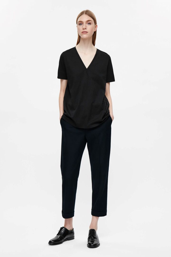 Cos black cotton t-shirt