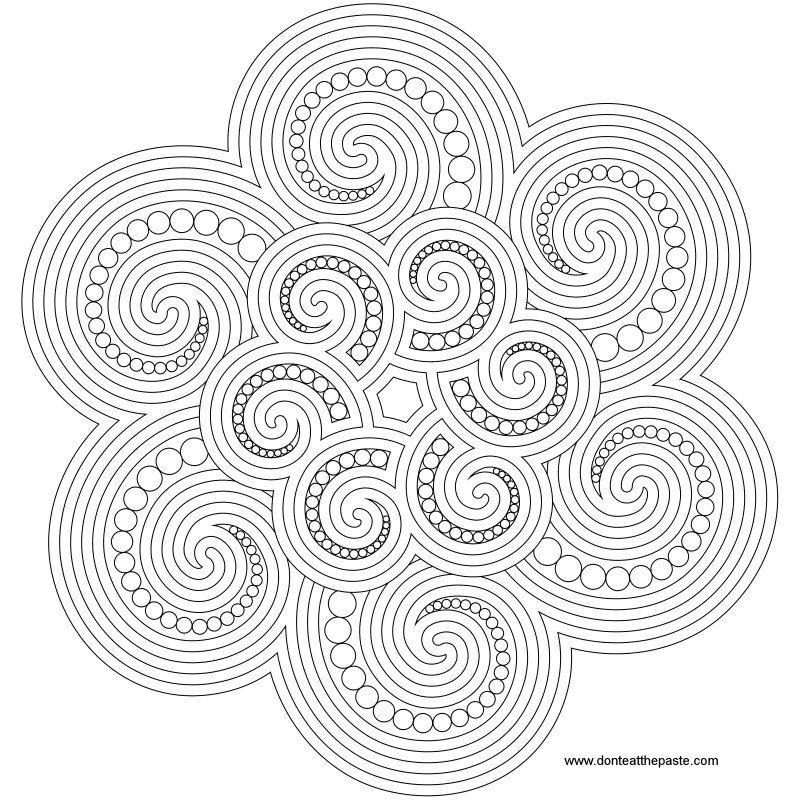 Spiral Mandala To Color Mandala Coloring Pages Mandala Coloring
