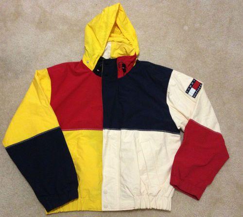 Tommy Hilfiger Vintage 90s Colorblock Jacket Polo Snow