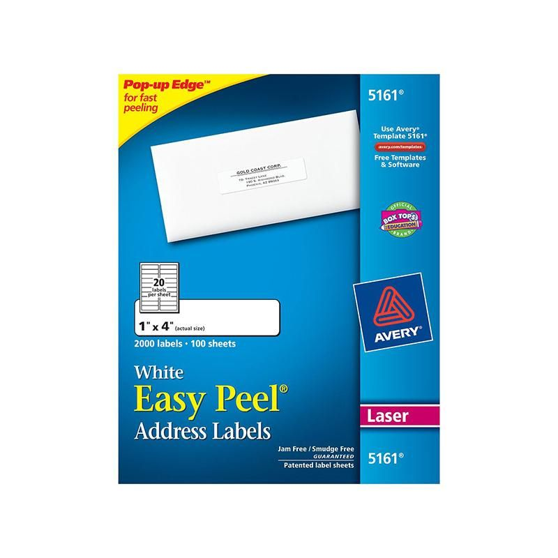 Avery easy peel 1x4 white mailing Easy peel and Products