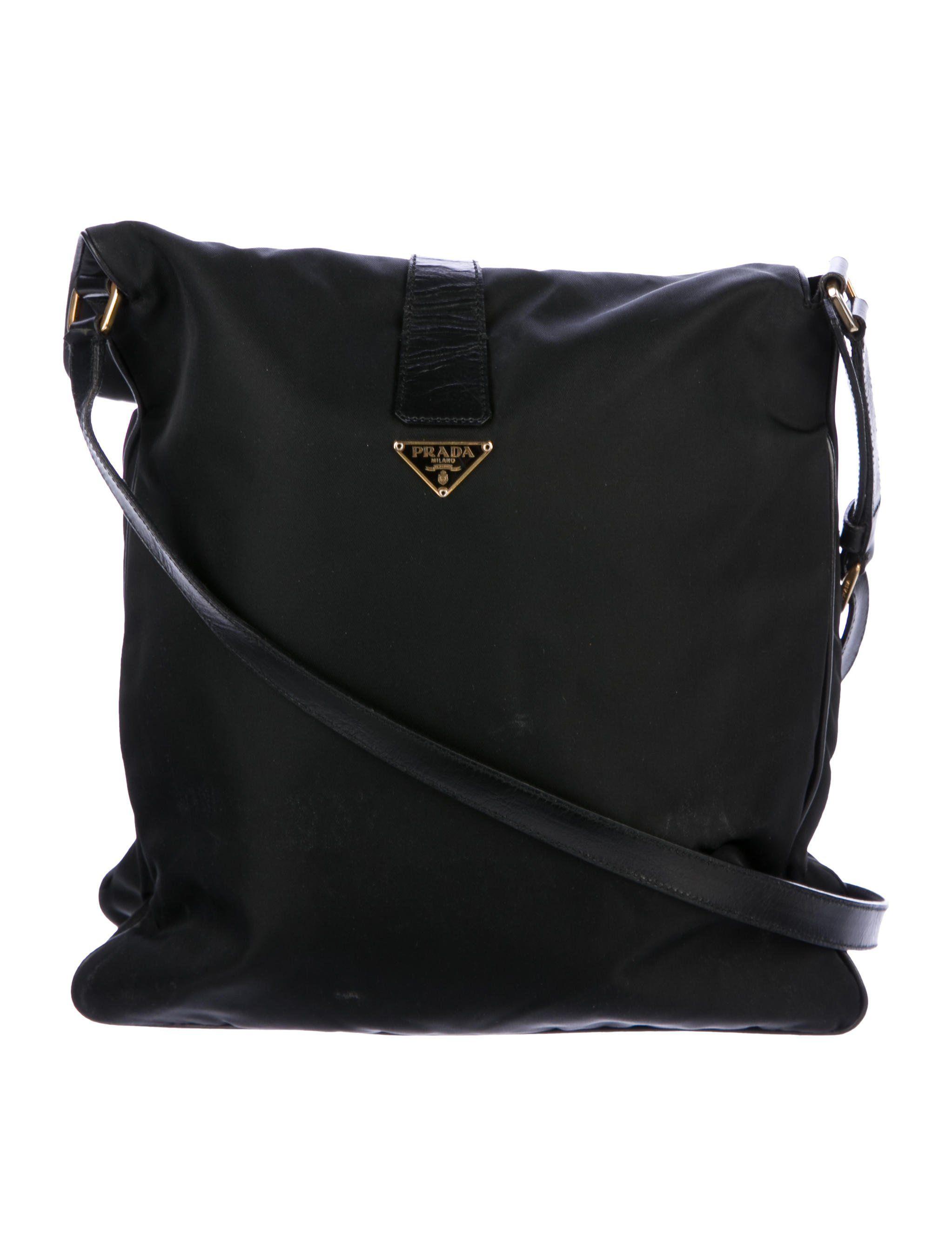2bd12a3d7882 Black Tessuto nylon Prada shoulder bag with gold-tone hardware