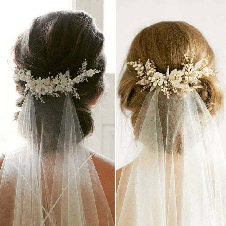 Wedding Hairstyle For Long Hair Tutorial: Wedding Veil With Hair Up Style Inspo