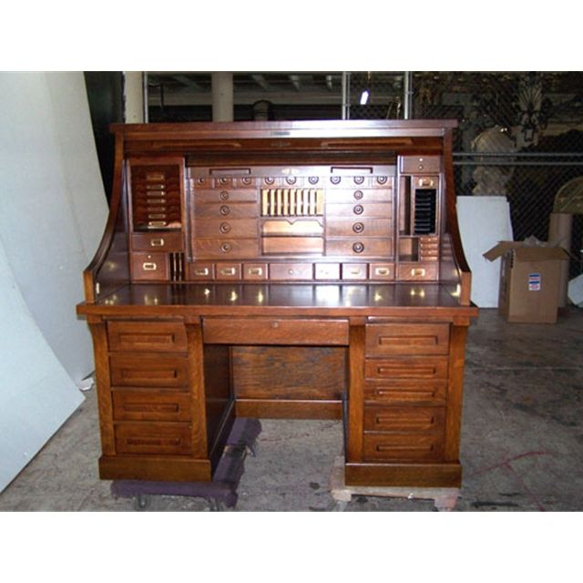 Image detail for -Antique C. American Oak Rolltop Railroad Desk - For Sale - I Have Always Wanted A Roll Top Desk With All The Drawers And