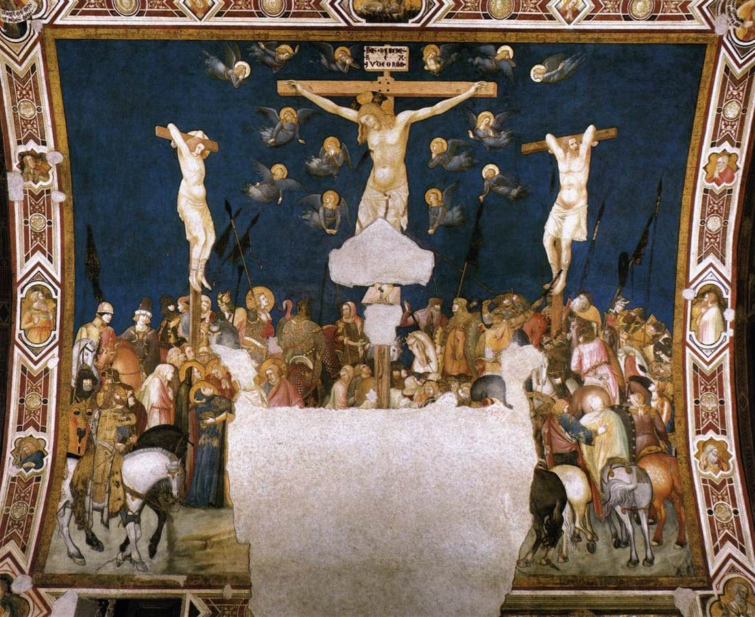 LORENZETTI, Pietro (b. 1290, Siena, d. 1348, Siena)  Crucifixion c. 1320 Fresco Lower Church, San Francesco, Assisi