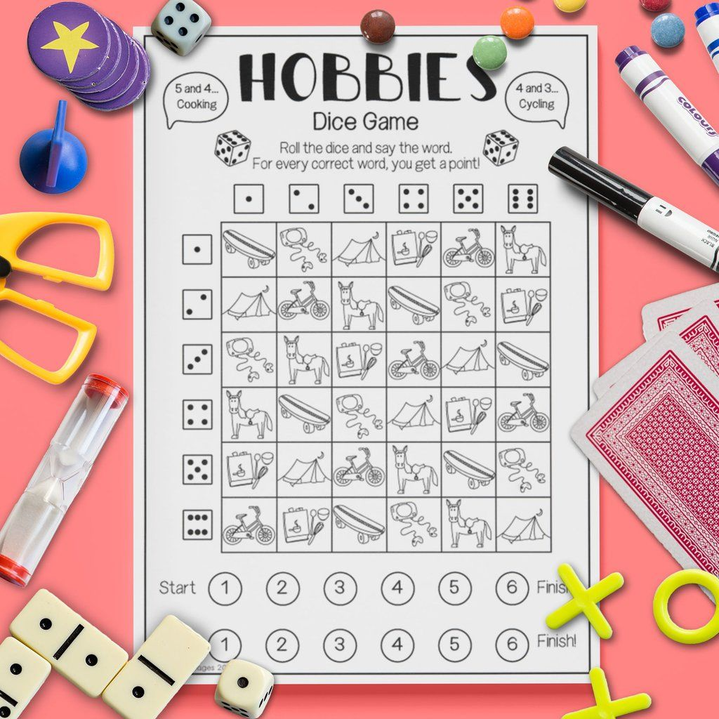 Hobbies Dice Game With Images
