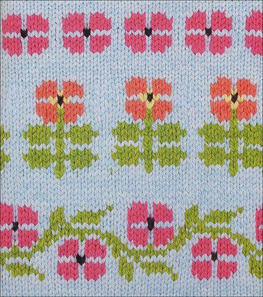 150 Scandinavian Motifs Knitting Patterns Knitting Flower Chart