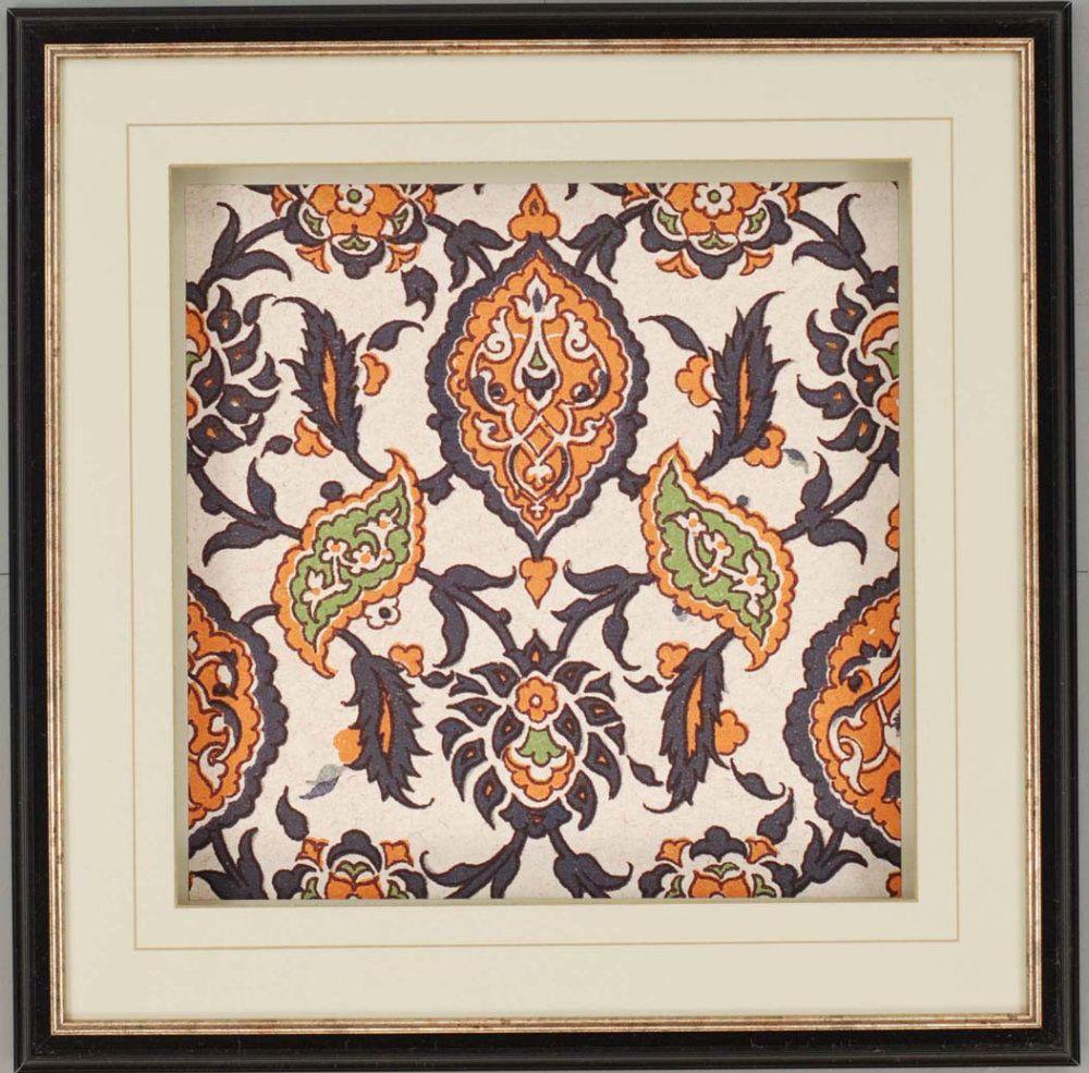 Paragon Persian Tiles Ii Framed Wall Art Set Of 3 Efurniture Mart Wall Art Sets Tile Art Framed Wall Art