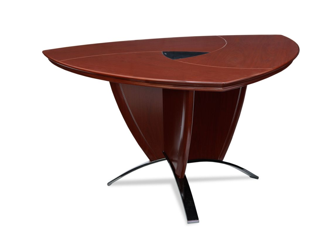 Grevol Office Conference Table From Durian Is Triangular Conference - Conference table bases wood