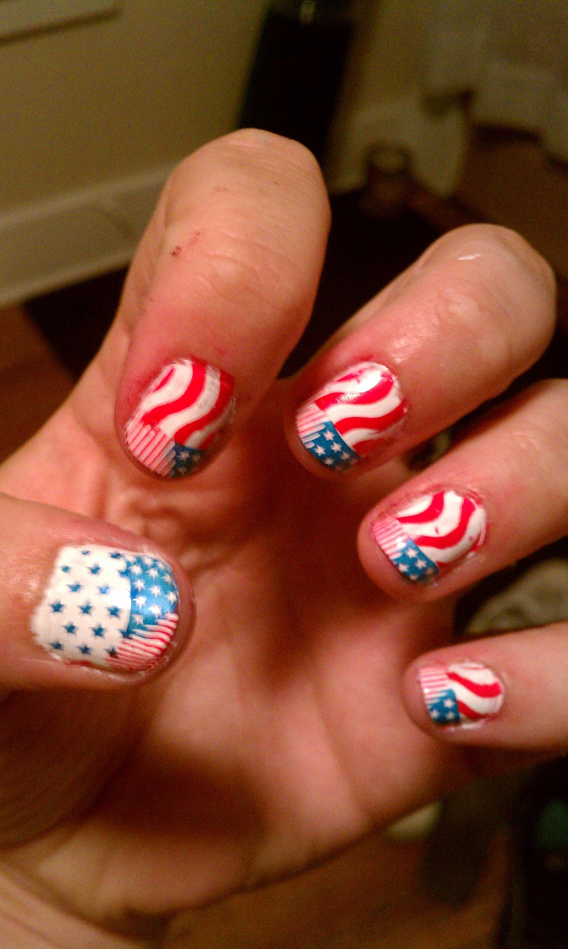 July 4th nail design using nail image plates | Nails / Nail Image ...