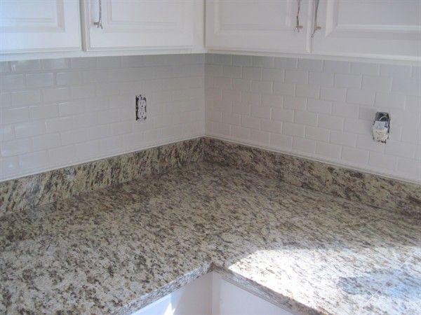 St Cecilia White Granite Backsplash Subway Tile Google Search