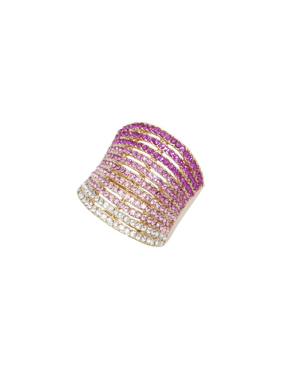 Hadely Ring - Love the ombre bangle look! Maybe a gift for the bridesmaids? #wedding