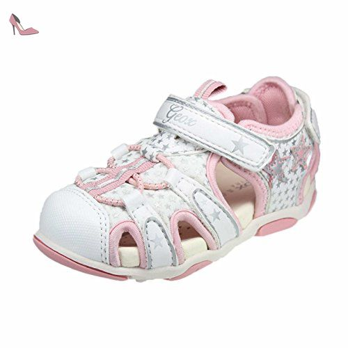 43ffcaef111dd Geox B720ZE filles Derbies blanc rose