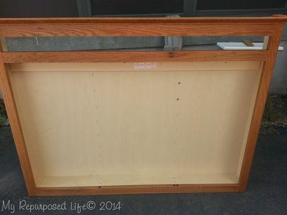 Repurposed Medicine Cabinet Craft Station