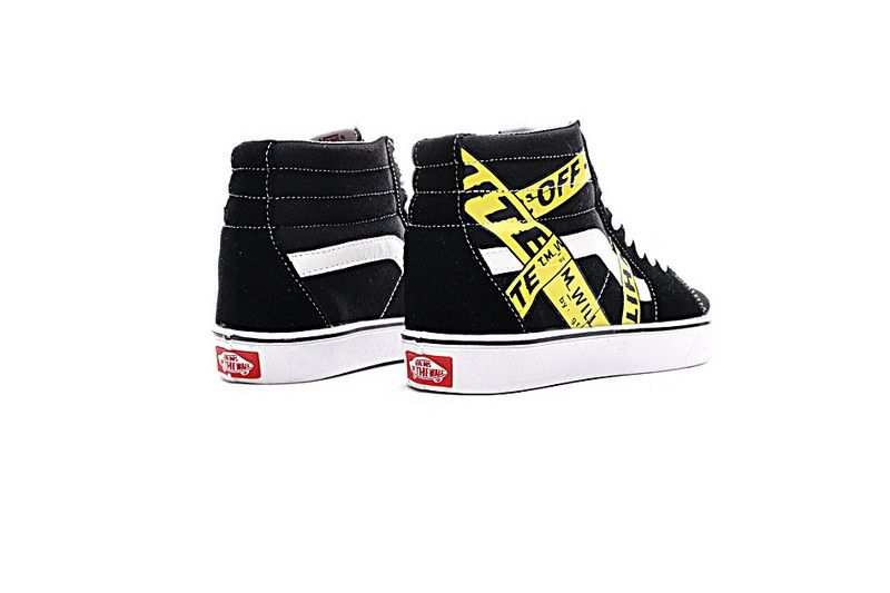 33f0ab4fee3 Sneakers Custom Made AMAC Customs OFF-WHITE x Vans Sk8-Hi High Canvas  Sneakers Yellow Black   White VN-OJYPRED30  Vans