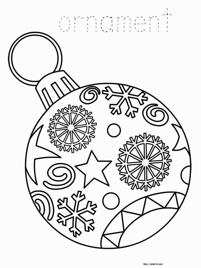 Christmas Ornament Coloring | Coloring Pages | Pinterest | Christmas ...