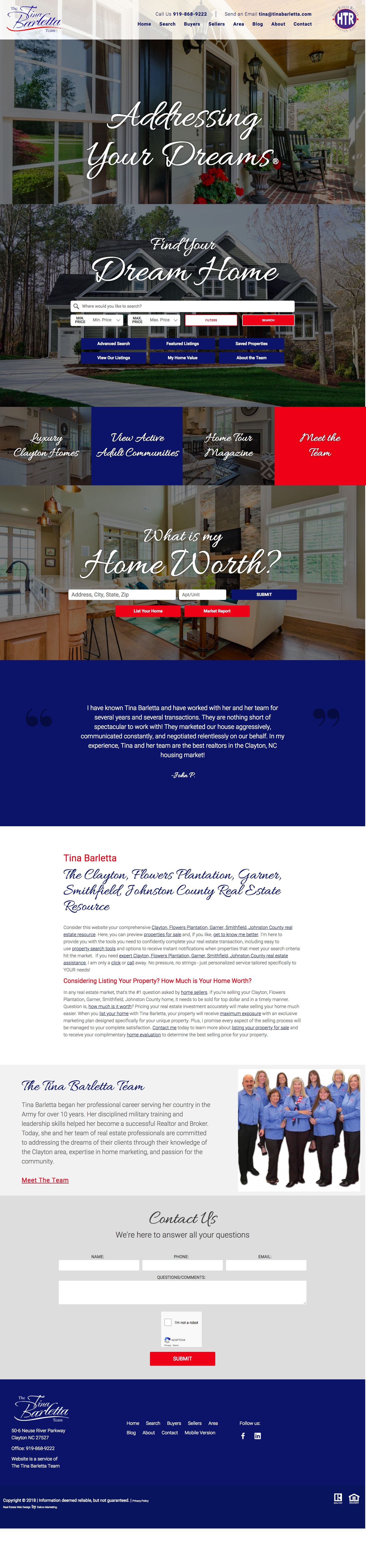 Custom Real Estate Website For Raleigh Nc Real Estate Agent Thoughtfully Designed By Dakno Marketing With Real Estate Website Selling Real Estate Real Estate
