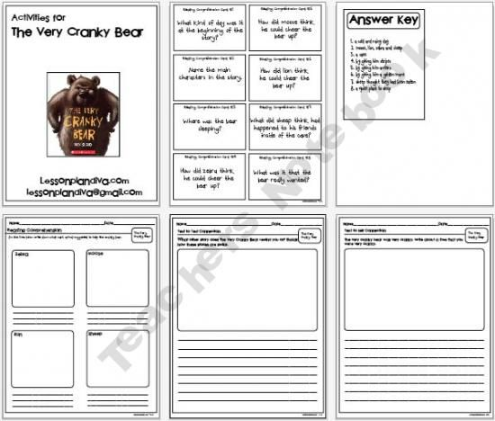 The Very Cranky Bear | FREE PreK-2nd Grade | Pinterest | Bears ...