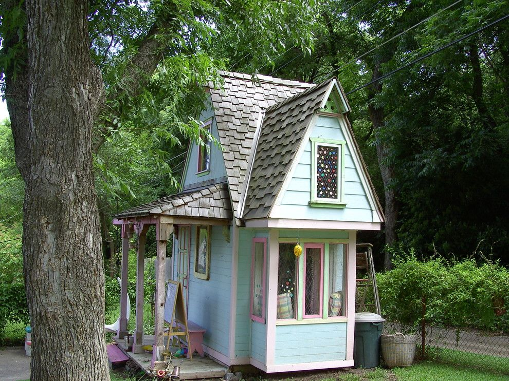 25 Play House Ideas For A Beautiful Time With Your Children Backyard Playhouse Play Houses Backyard Buildings
