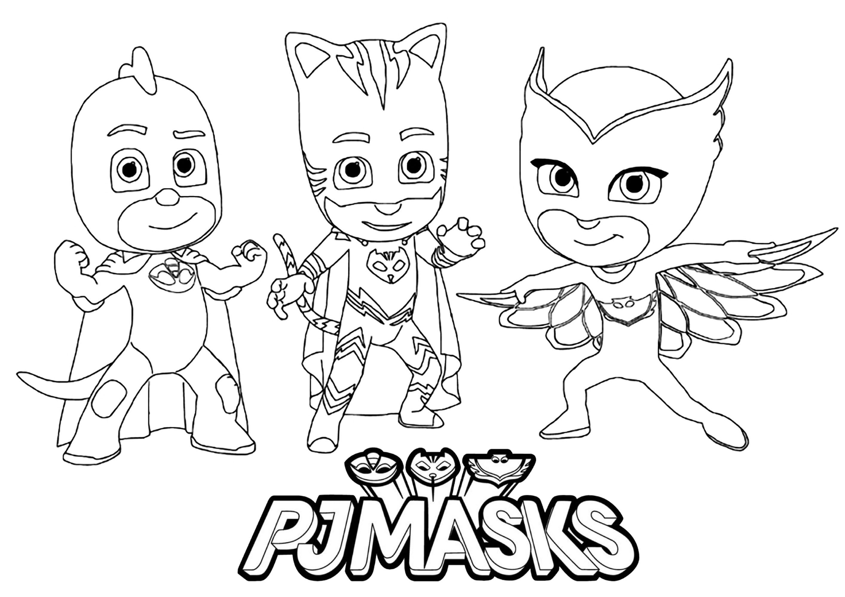 Desenhos Do Pj Masks Para Colorir E Imprimir Cartoon Coloring