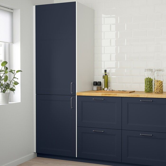 Axstad Matt Blue Door 60x120 Cm Ikea In 2020 Ikea Kitchen Units Kitchen Door Designs Kitchen Cupboard Designs