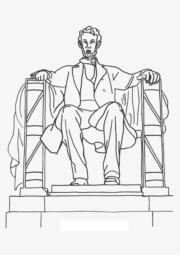 Lincoln Memorial Worksheet | Lincoln Memorial Coloring Page ...