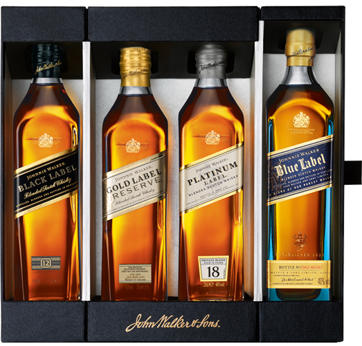 Johnnie Walker Whisky Collection Pack 4x20cl Saxtys Wines Whisky Collection Johnnie Walker Whisky Johnnie Walker