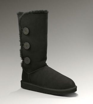 UGG Bailey Button Triplet 1873 Black For Sale In UGG Outlet Save more than $100, Free Shipping, Free Tax, Door to door delivery