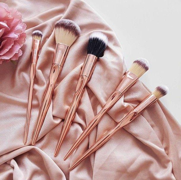 Make-up: tumblr makeup brushes pink pastel pink pastel copper