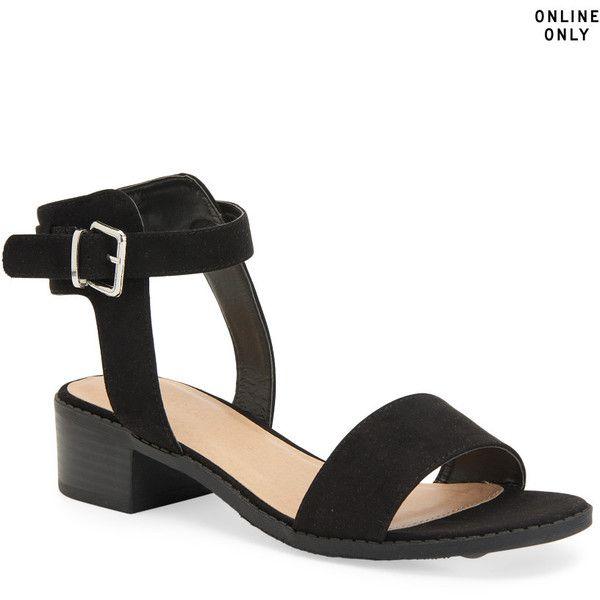 free shipping view cheap sale 100% original Black 'Diva' mid heel sandals pre order sale Cheapest L4yeVI