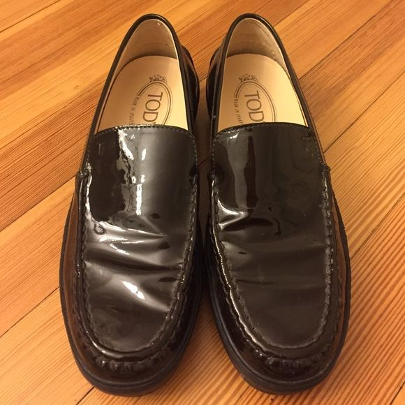 b6bd1e0a37 Women s Vintage J.P. Todd Loafers Vintage J.P. Tod s loafers. In perfect  condition and have never been worn! Dark brown patent leather loafers.