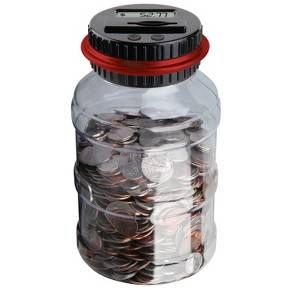 The Sharper Image Digital Counting Money Jar Designed To Accept All