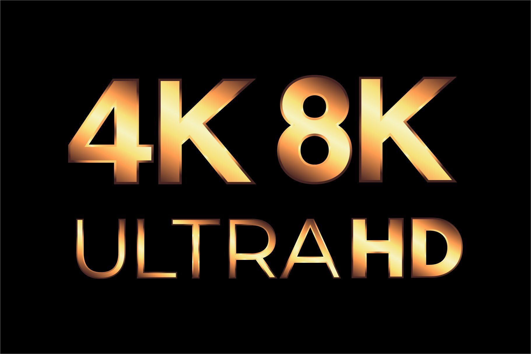4k 8k Ultra Hd And Hdr Logo Set Logo Set Ultra Hd Vector Logo