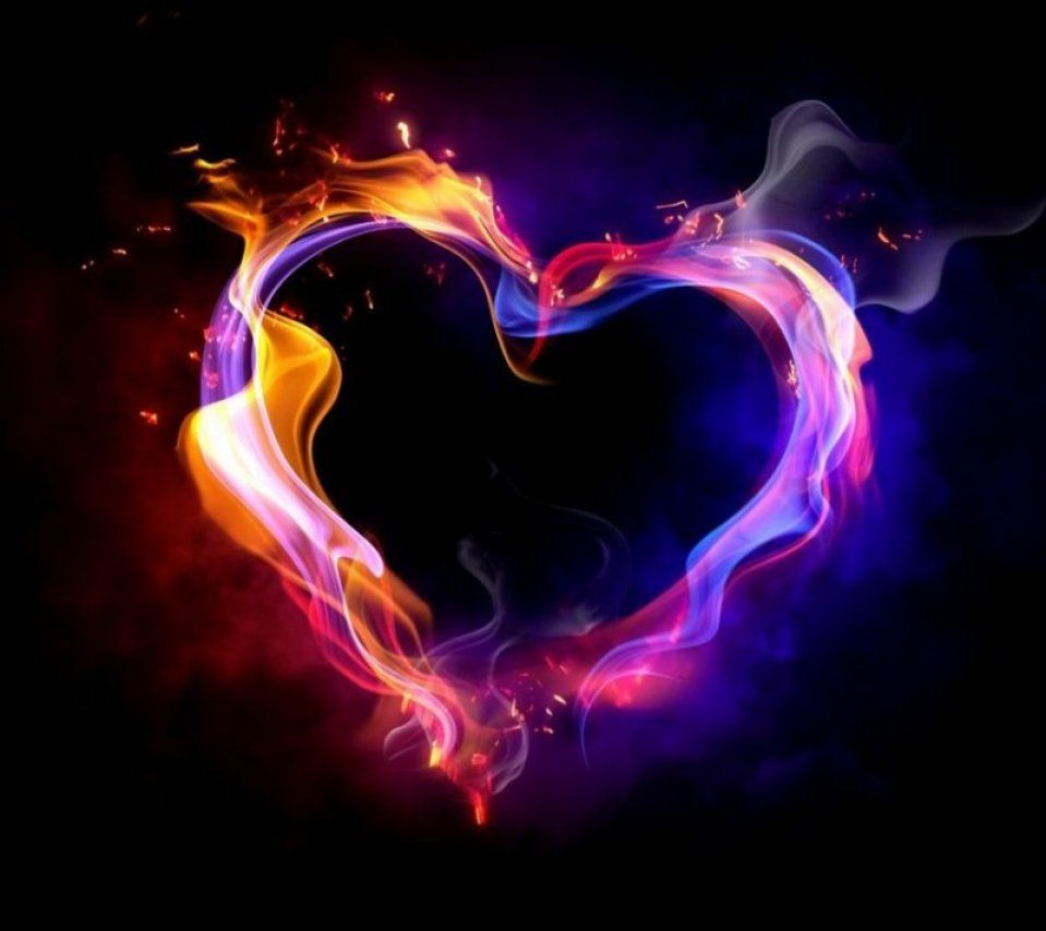 I want this on a wall. Flaming Heart by br1ana01.deviantart.com on @deviantART