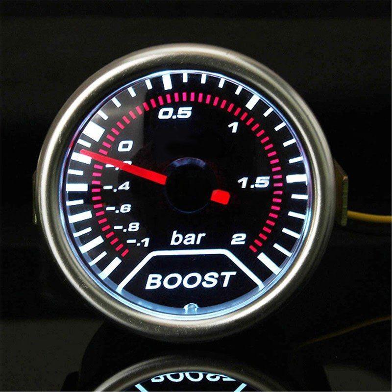 1 Unidades 2 pulgadas 52mm auto universal Turbo con LED blanco vacío