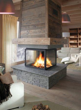 chemin e centrale cerca con google stufe e camini pinterest foyers fire places and salons. Black Bedroom Furniture Sets. Home Design Ideas