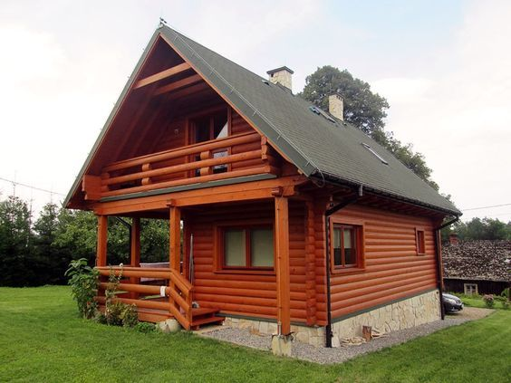 Sadece metrekare ama oyle konforlu ki cabin house log homes also rh pinterest