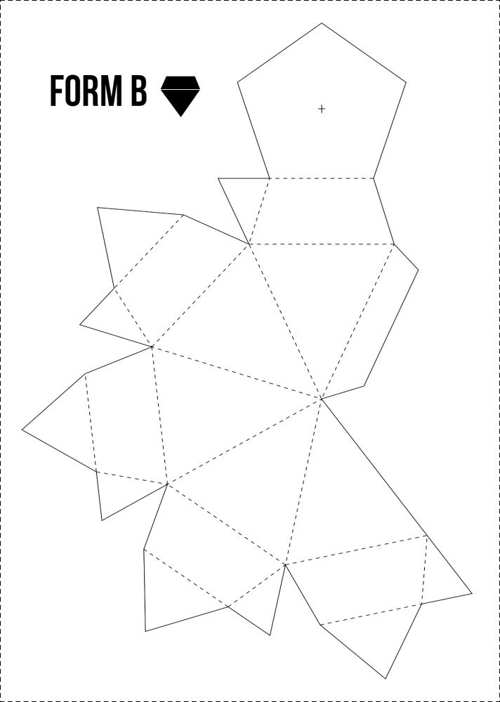 Papierdiamanten GRATIS Vorlage bei minimalistmuss.com | AHWH.CH ...