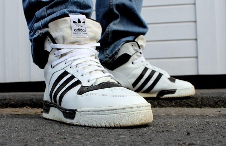 adidas Originals Rivalry High  White Black  de9e18ad39cc
