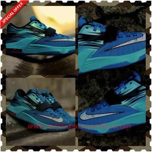"""""""Clearwater"""" 653996-414 Light Blue Lacquer/White-Clearwater-Total Orange Nike KD VII Outlet Canada"""