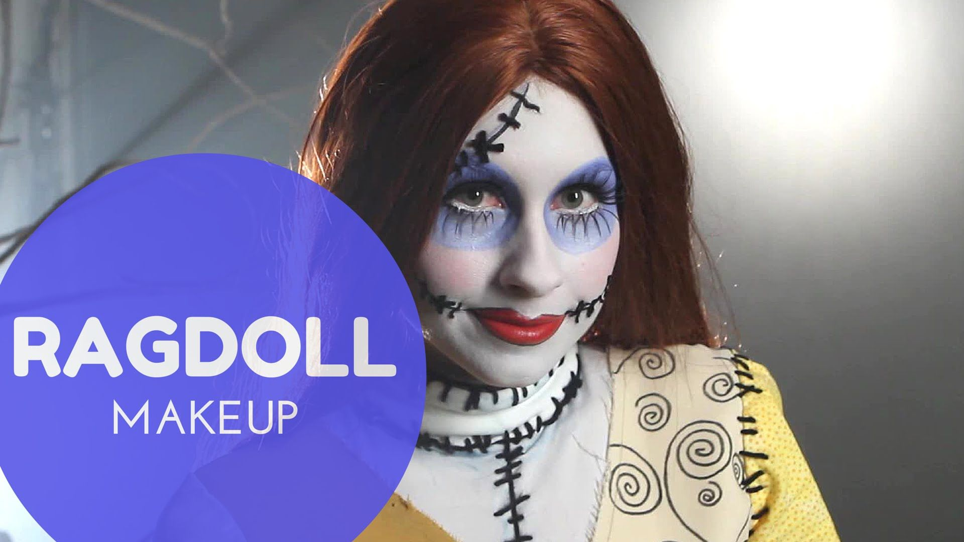 Sally the Ragdoll Nightmare Before Christmas Makeup Tutorial