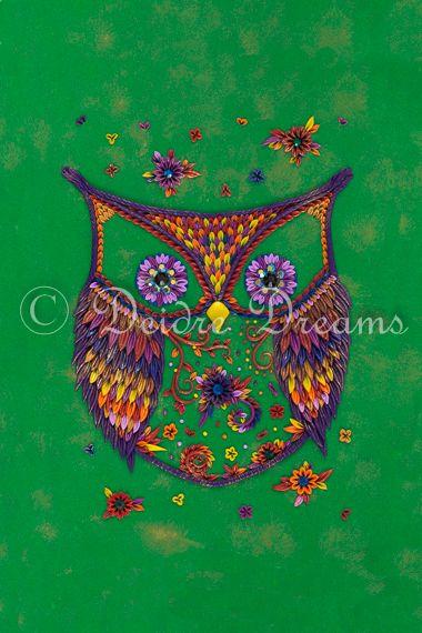 Owl Art Print Design