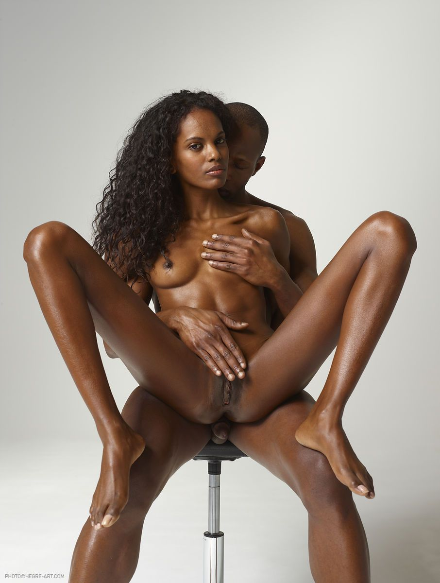 ebony celebs nude - This smoking-hot ebony babe and her handsome black stud will make your day  nude